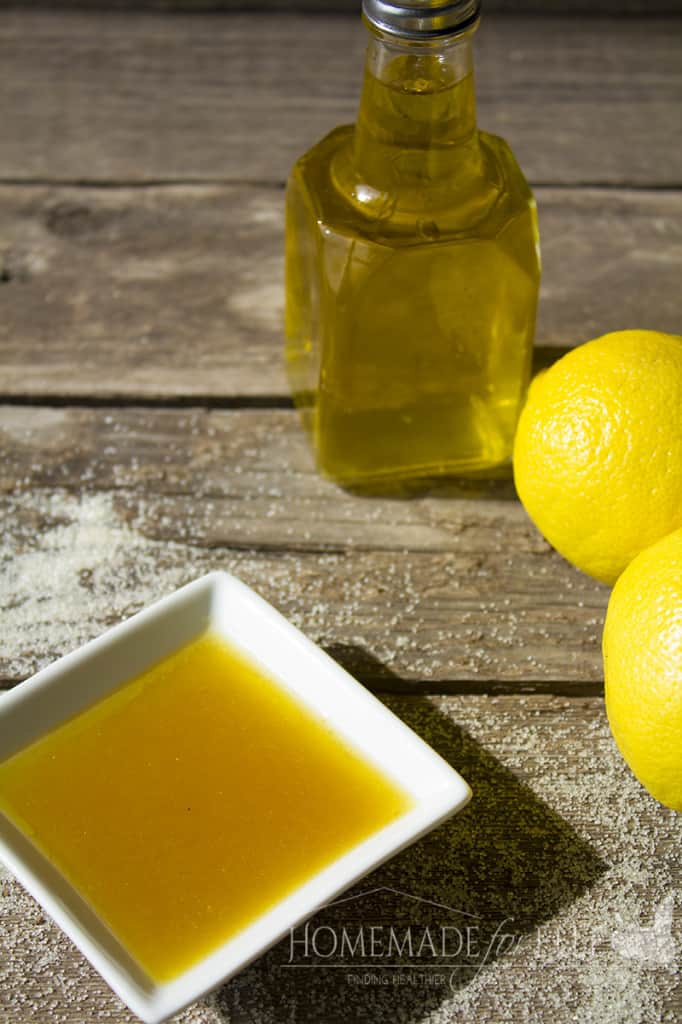 sugar, honey, olive oil and lemon