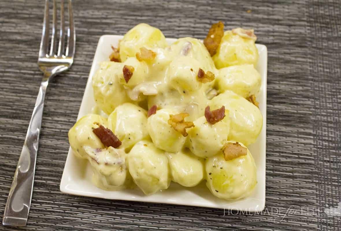 Warm Potato Salad with Bacon and Horseradish