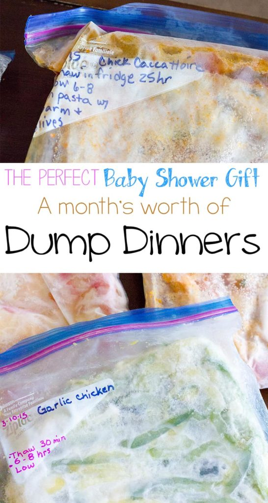 Dump Dinners - The Perfect Gift for the Expectant Mom