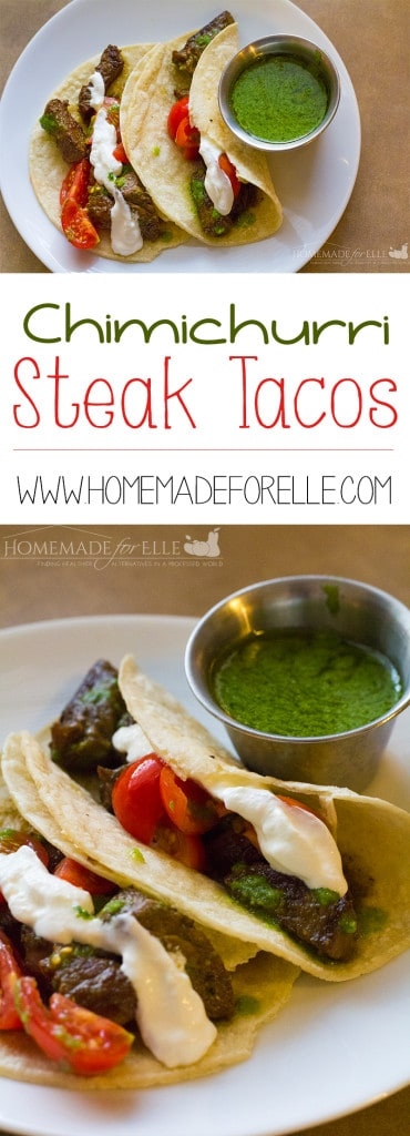 Steak Tacos with a Homemade Chimichurri Sauce