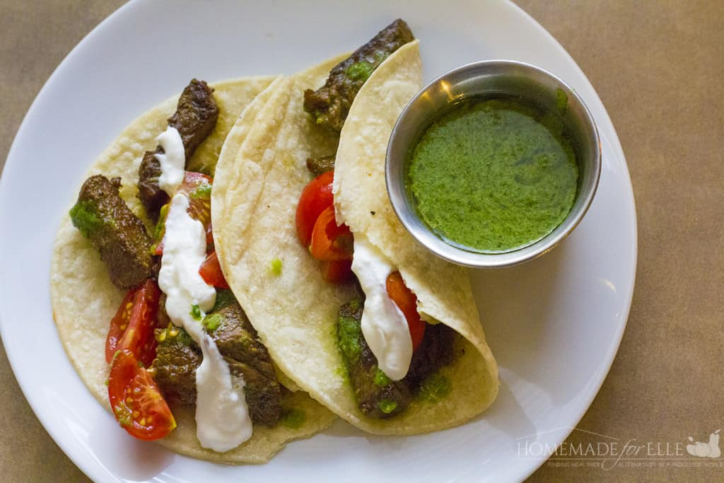 Steak Tacos with Chimichurri Sauce