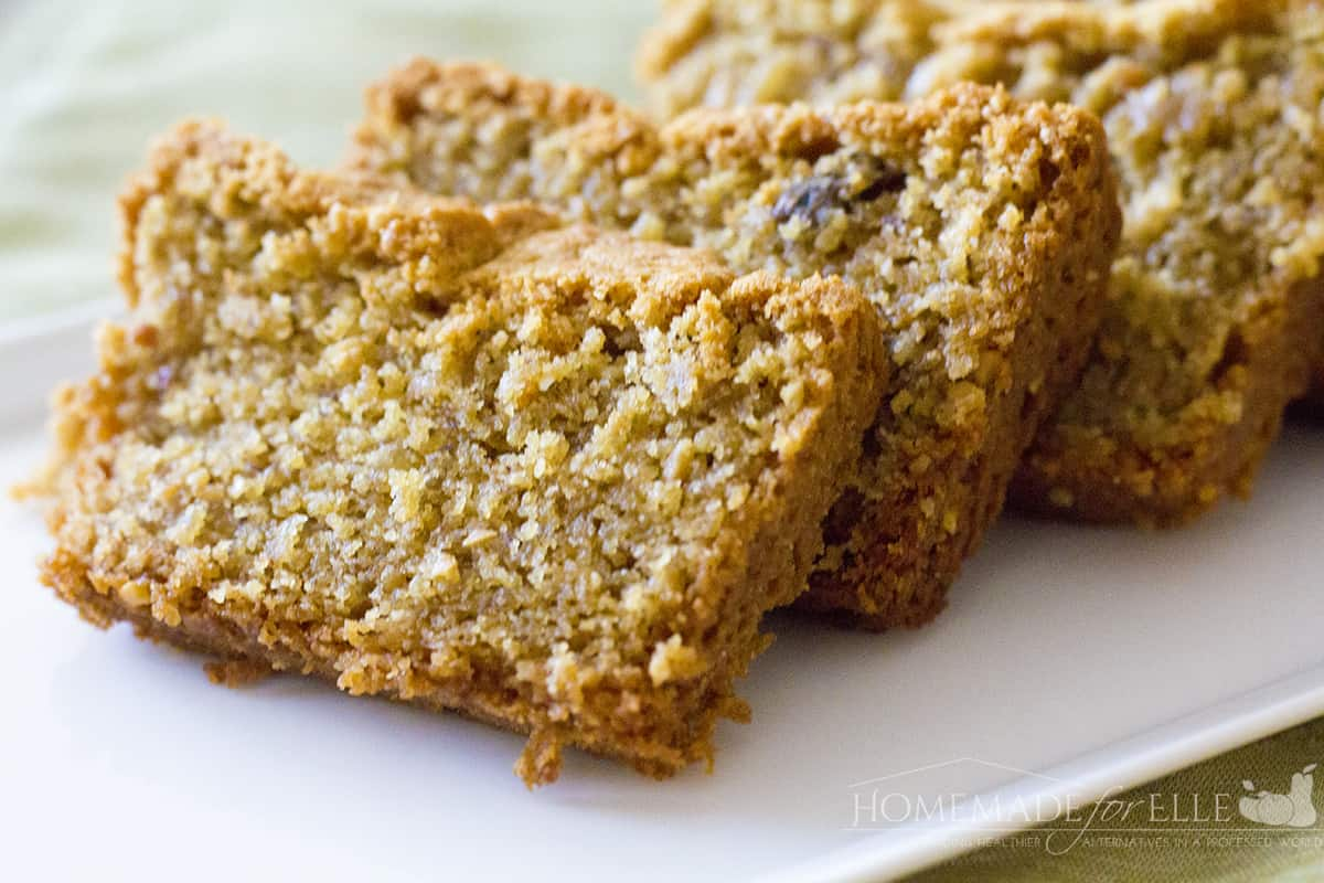 Banana, Peanut Butter and Coconut Bread
