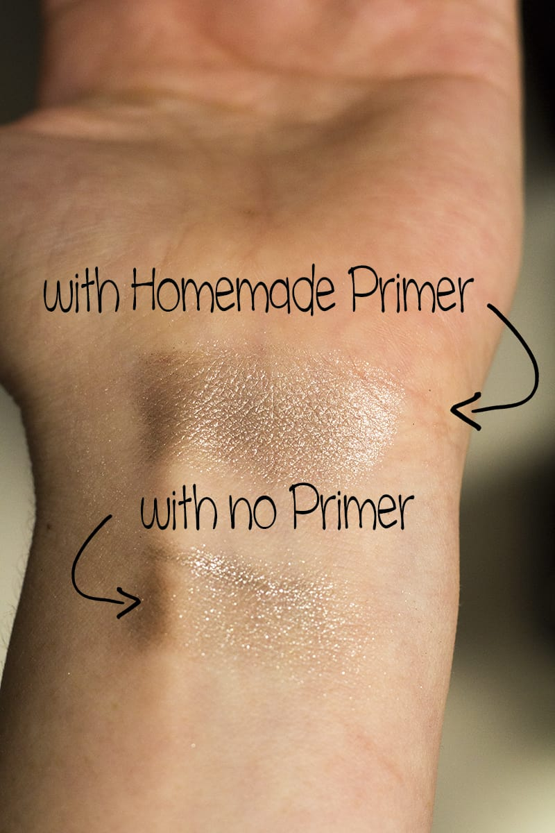 Homemade EyeShadow Primer {for eyeshadow that lasts all day long!}