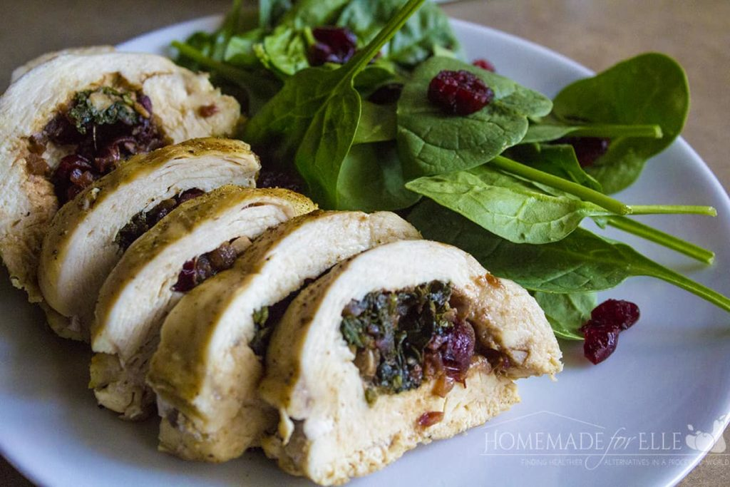 Spinach and Cranberry Stuffed Chicken