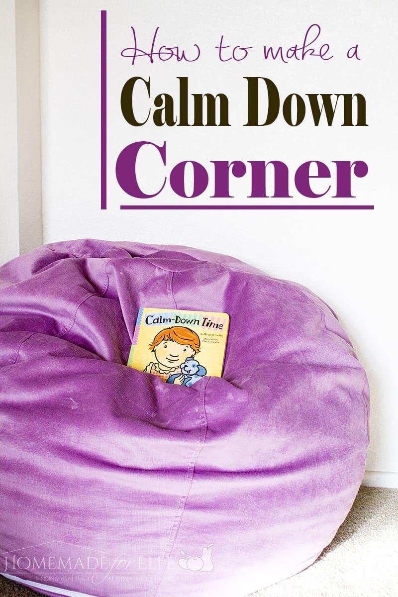 How to Make a Calm Down Corner