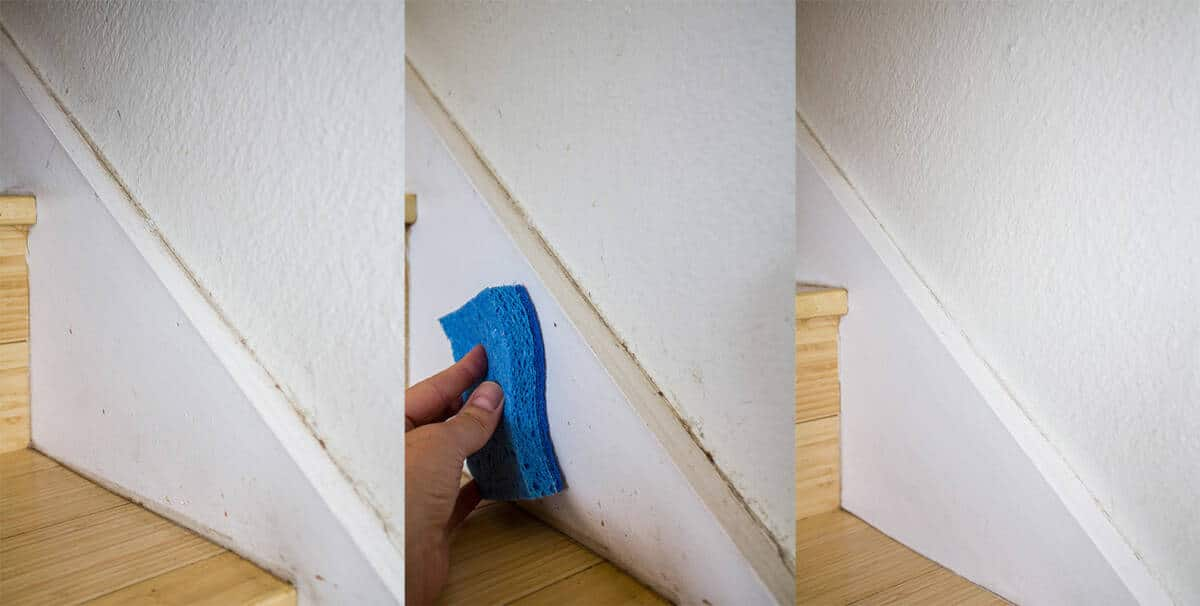 The Easiest Way to Clean Walls and Baseboards