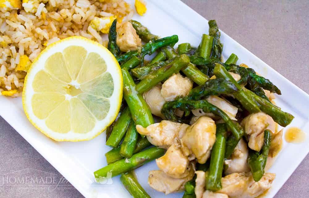 Lemon & Asparagus Chicken Stir Fry