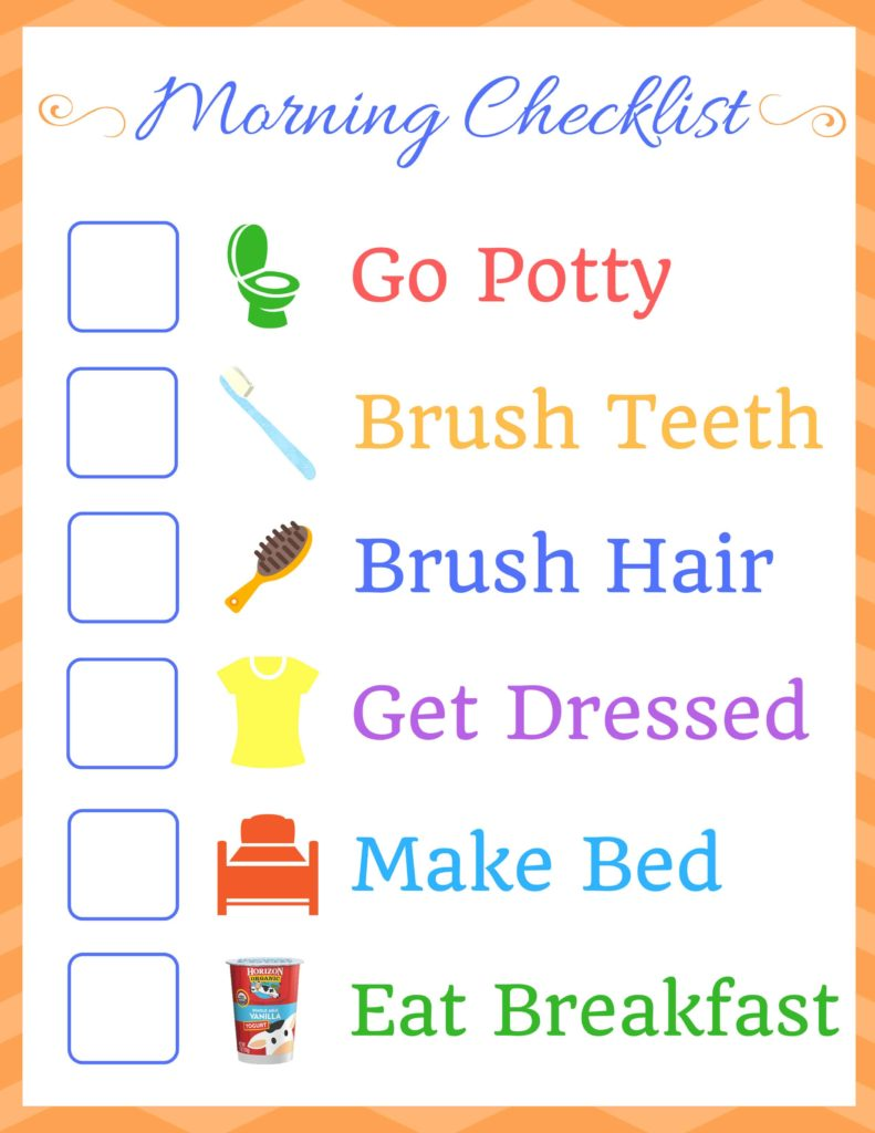 Kids Morning Routine Checklist