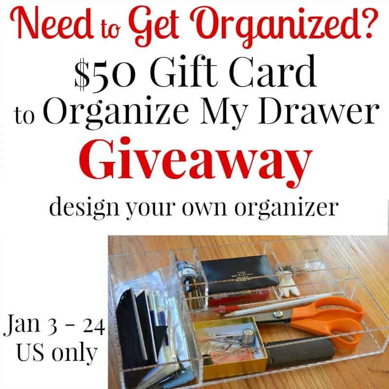 Giveaway   Organize your Drawers