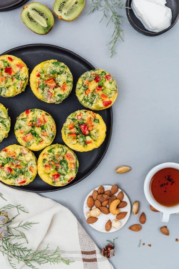 Vegetarian Breakfast Omelet Muffins