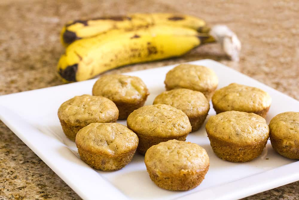 Clean Eating Banana Muffins Recipe | homemadeforelle.com