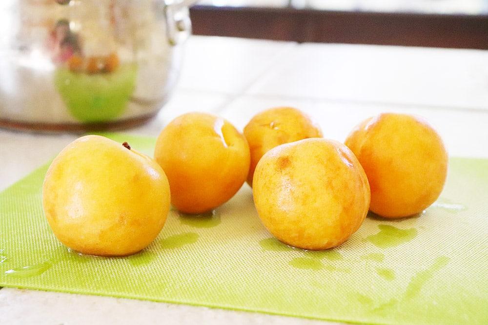 Fresh organic apricots