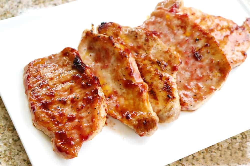 Cherry BBQ Sauce Pork Chops